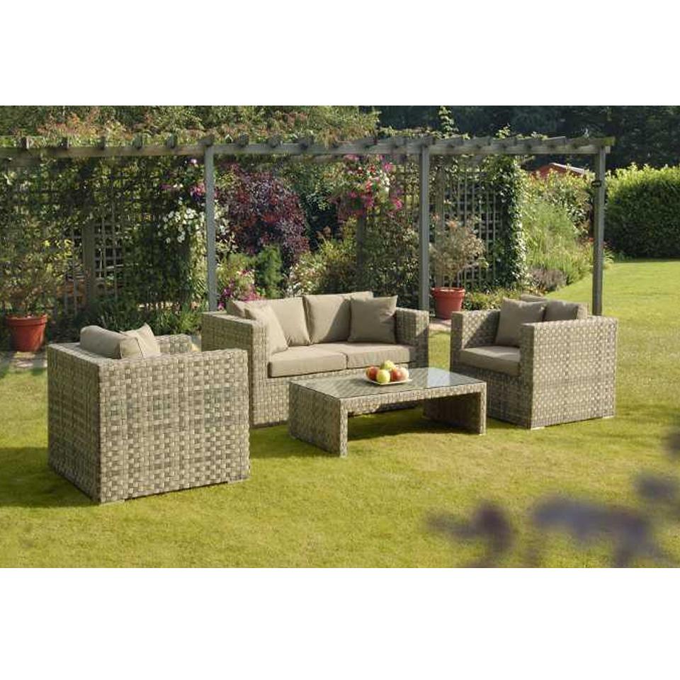 Sandringham Rattan 4 Piece Garden and Conservatory Set