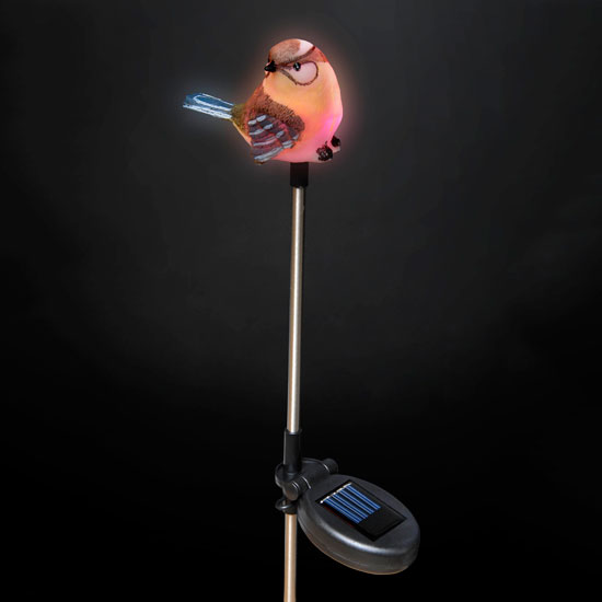 Solar Powered Blue Tit Garden Stake Light