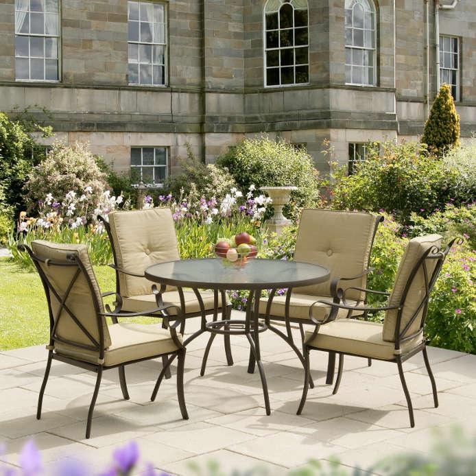 Ferndown Beige 5 Piece Garden Dining Set