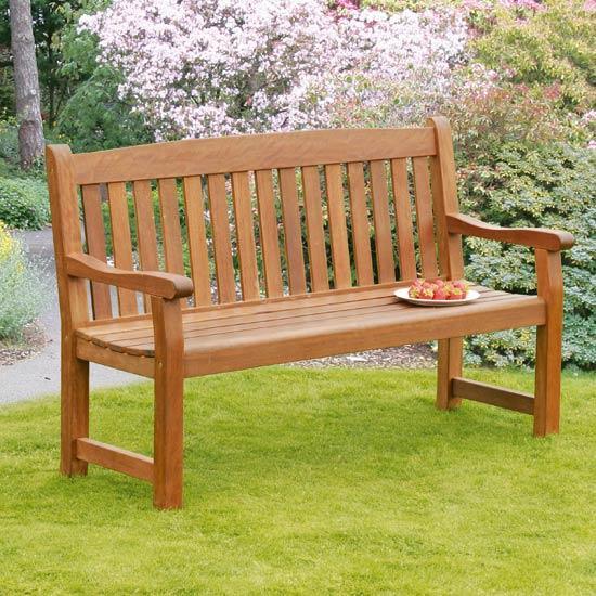 Balmoral 3 Seat Hardwood Garden Bench