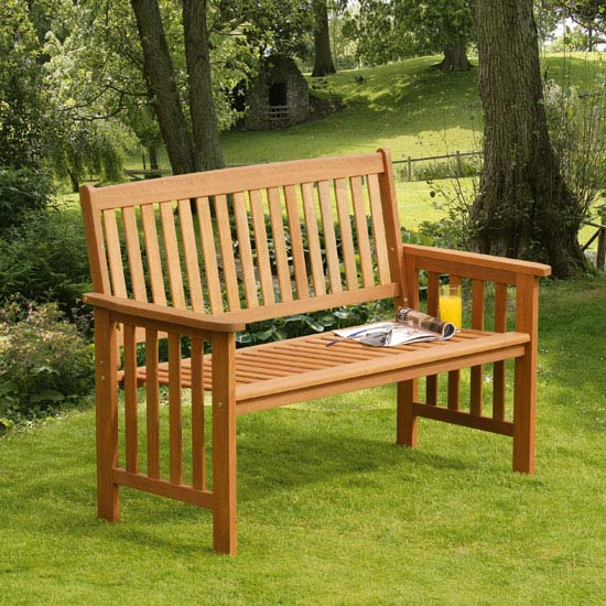 Camillion 2 Seat Wooden Garden Bench