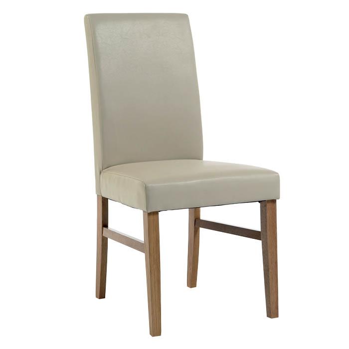 Hacienda Ivory Upholstered High Back Pine Chair