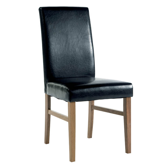 Santa Fe Upholstered Faux Leather Pine Chair
