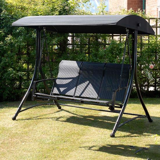 Suntime Havana Black 3 Seat Garden Swing
