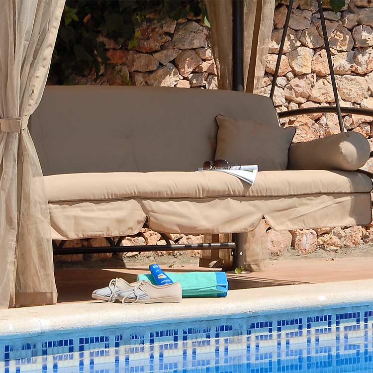 Suntime Luxor Swing Large Beige Seat Cushion