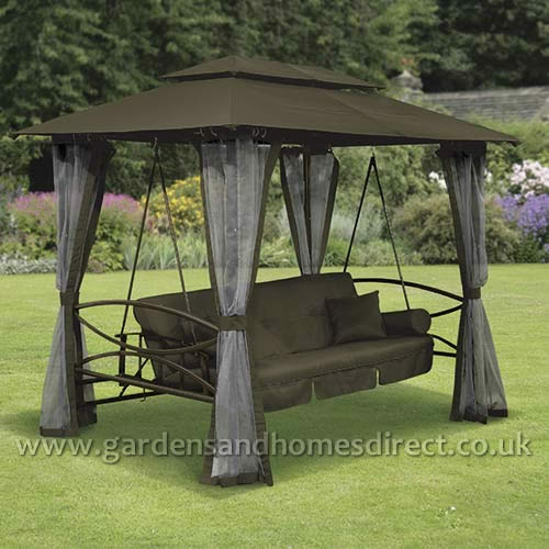 Replacement Canopy for Brown Luxor Swing Gazebo
