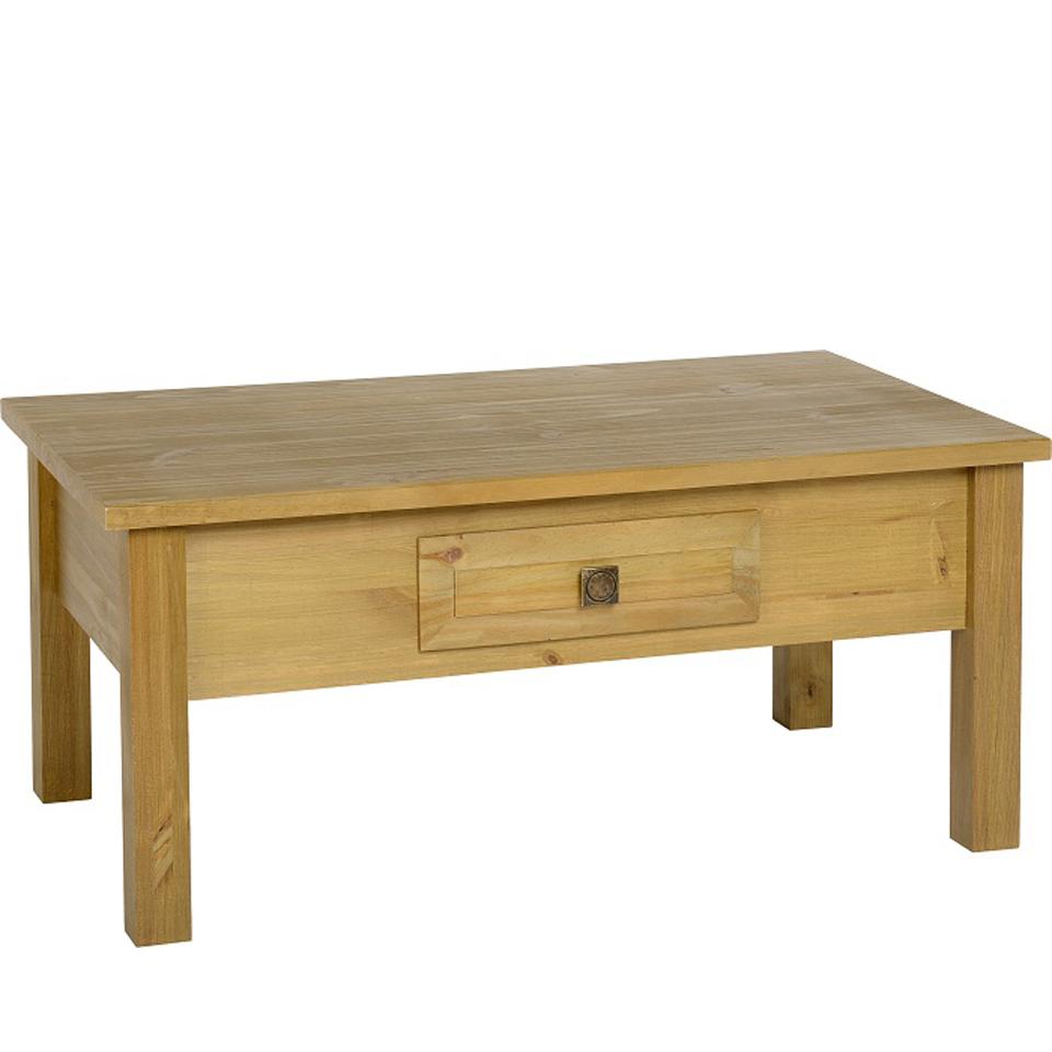 Ecuador Pine Coffee Table in Oak Style Finish