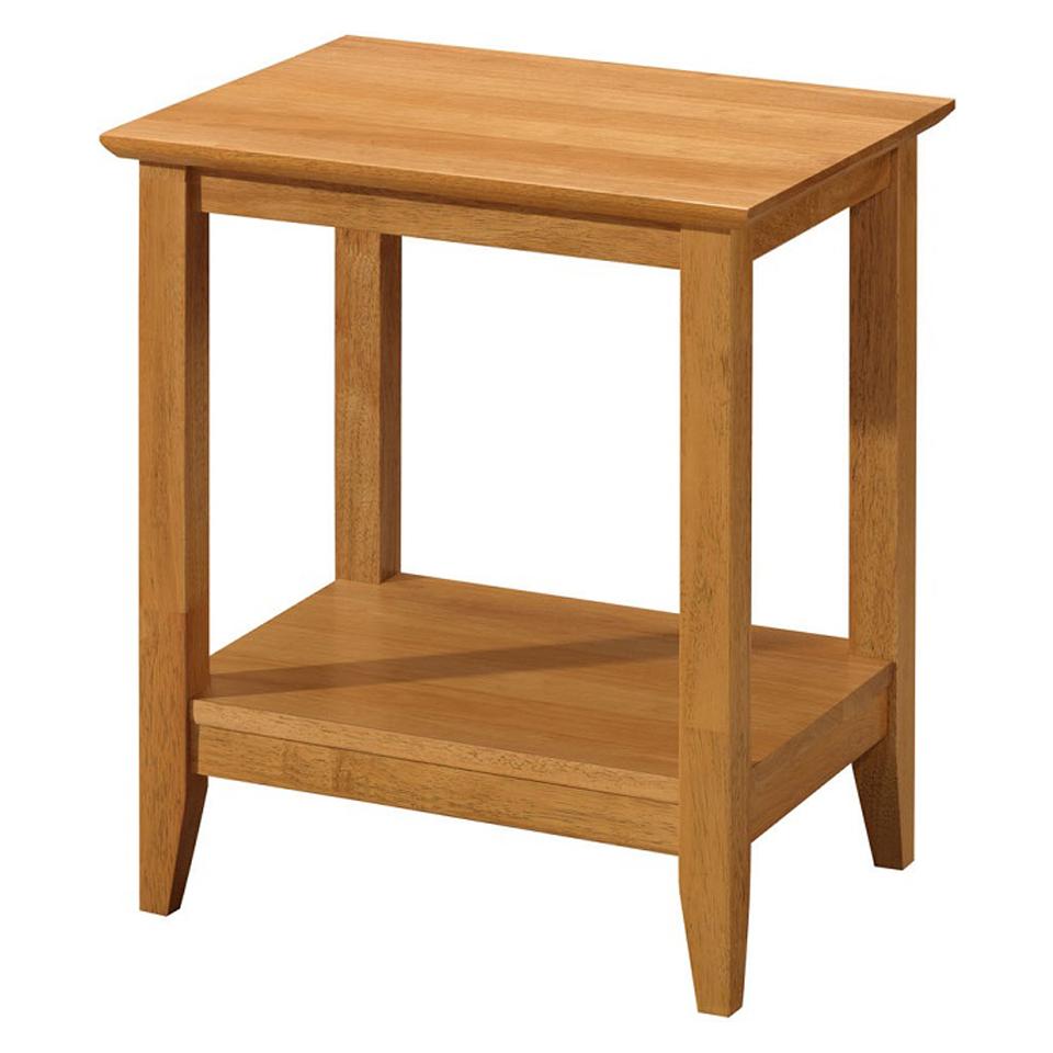 Hampton Natural Oak Finish Lamp Table