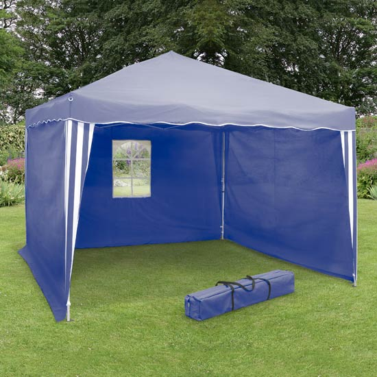 Blue 2 Metre Pop-up Panelled Gazebo