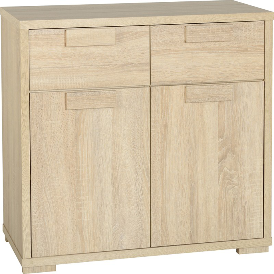 Cambourne Oak Effect 2 Drawer Sideboard