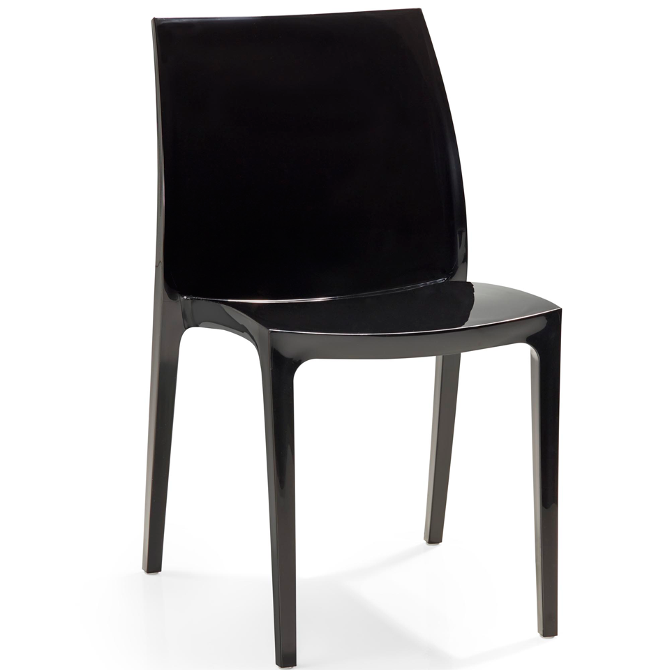 allibert sento black dining chair