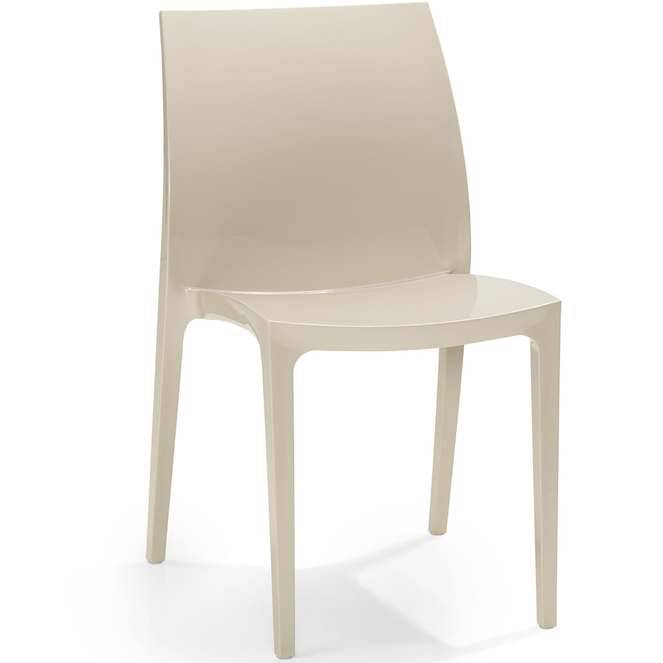 allibert sento warm taupe dining chair