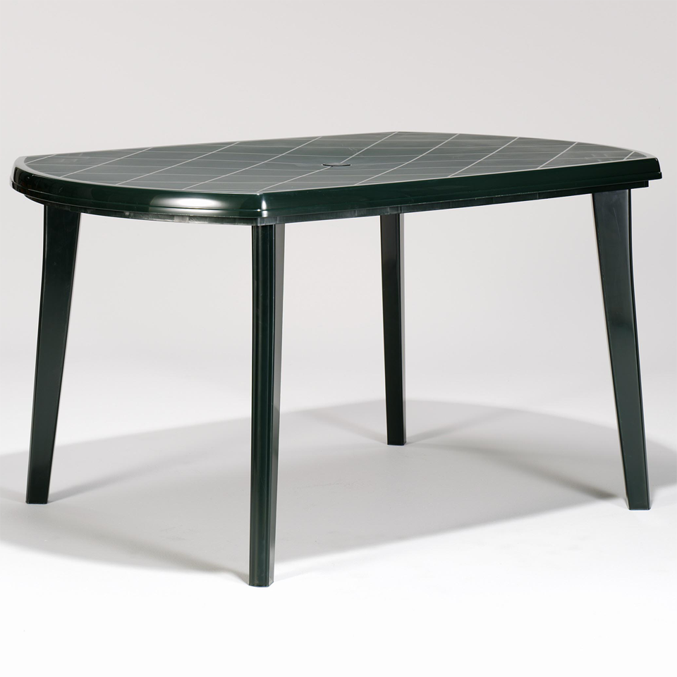 allibert jardin elise 6 seat forest green rectangular