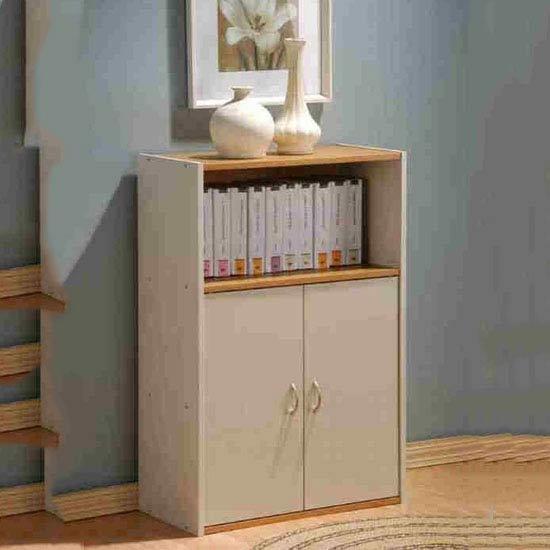 Camberley Beech half door shelf unit - BC