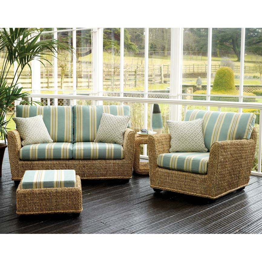Copacabana 2 Seater Conservatory Sofa and Chair with Footstool