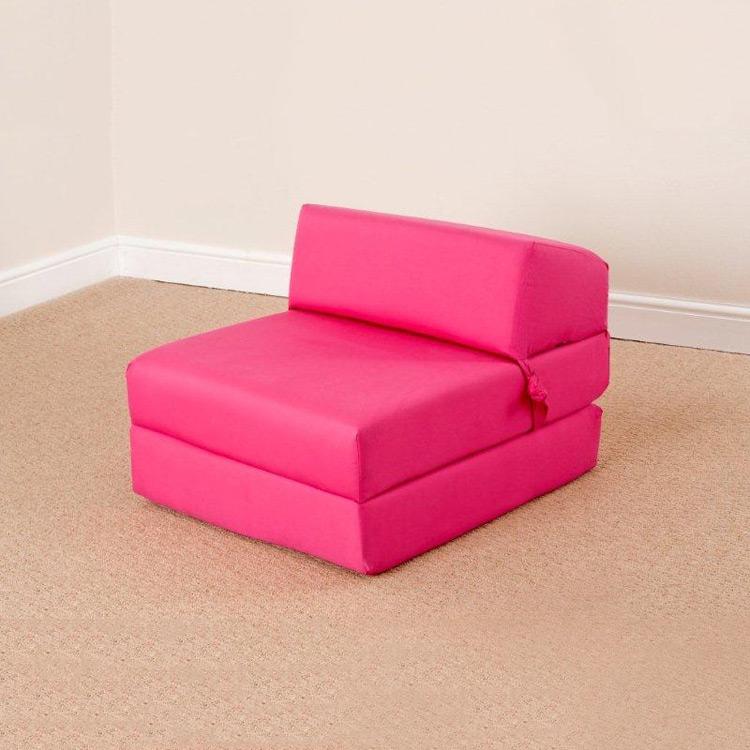 Foam cube sofa chairbed sleeping mattress single futon for Cheap single mattress