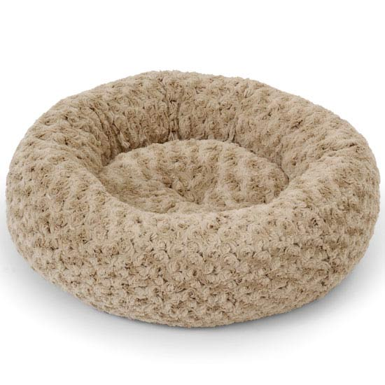 53cm Oval Doughnut Pet Bed Beige