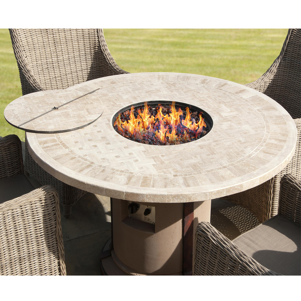 Ravello Marble Top Firepit Table
