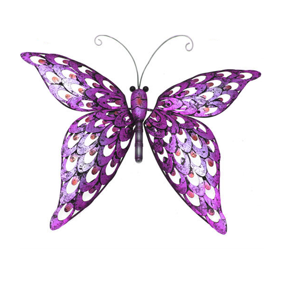 Pink Butterfly Wall Plaque