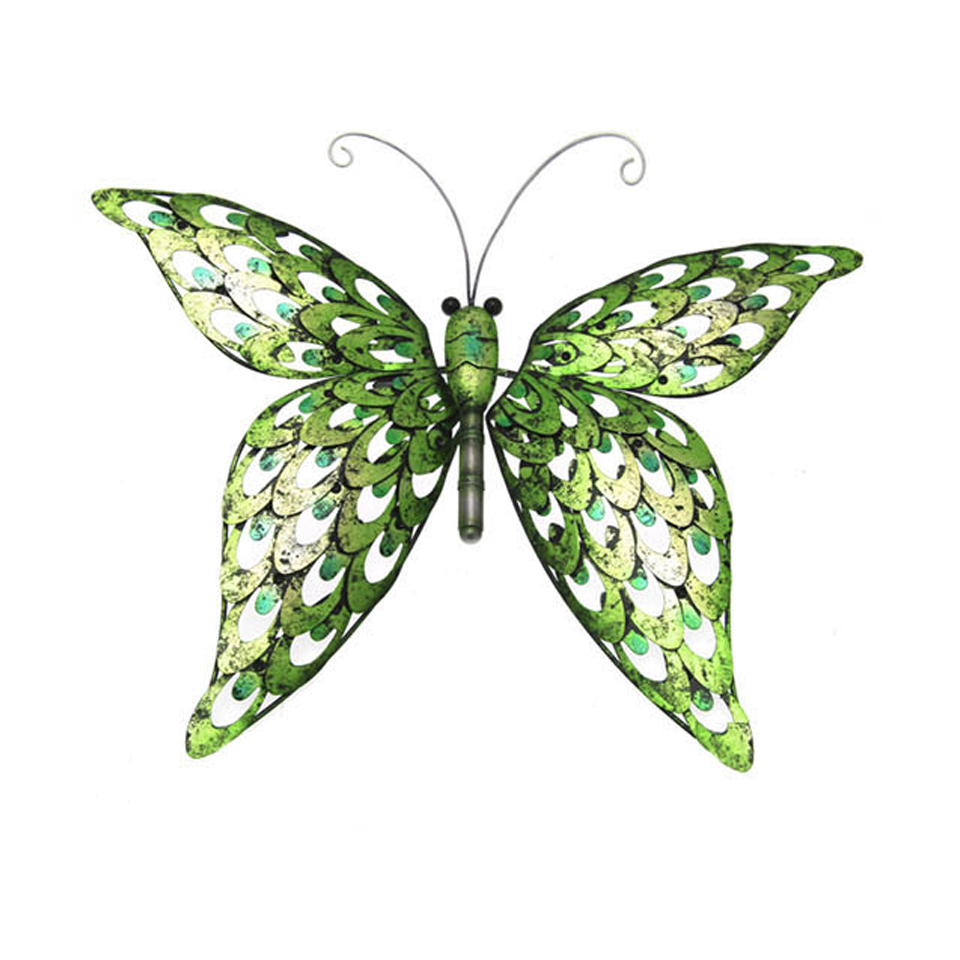 Green Butterfly Wall Plaque