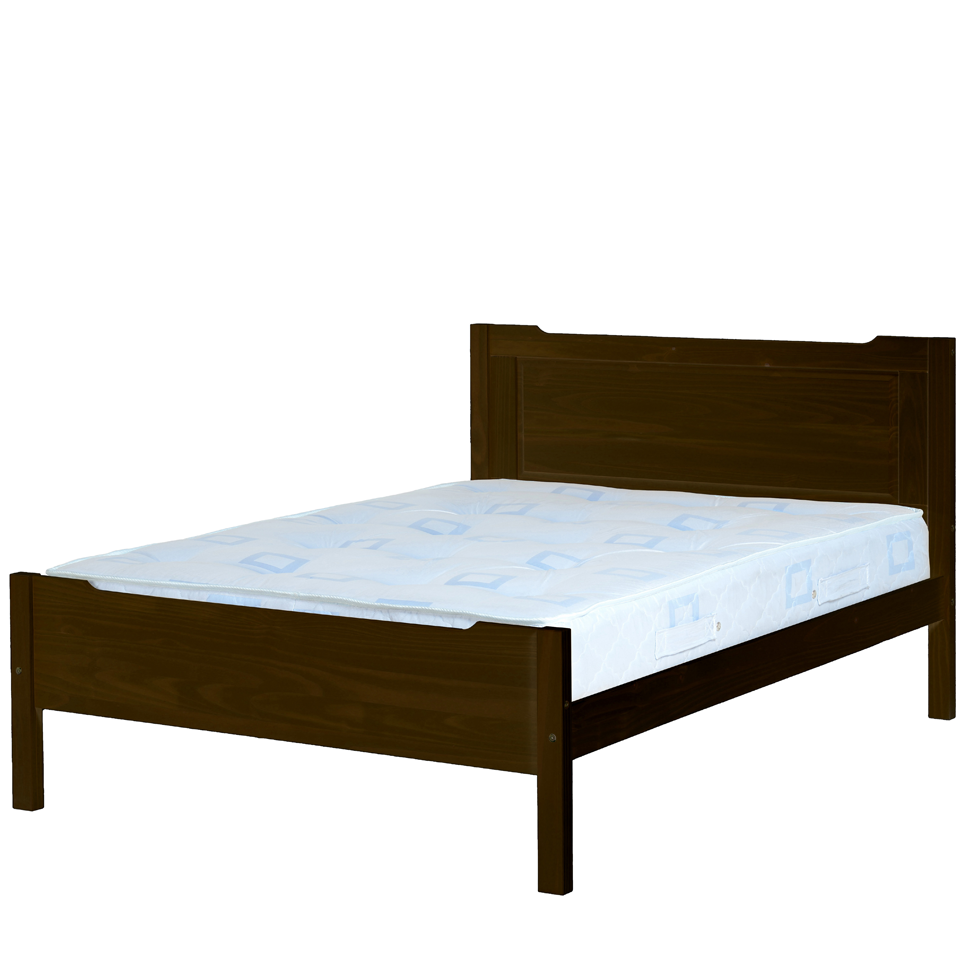 Eclipse Double Pine Bed with Walnut Finish