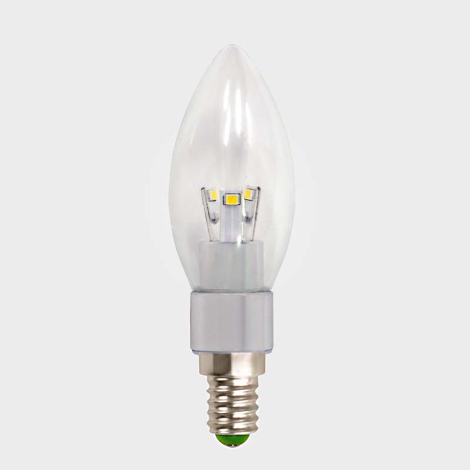 Lifelite 3W E14 Candle Warm White LED Bulb