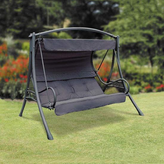 Replacement Seat Cushion for Suntime Seville Black Swing Seat