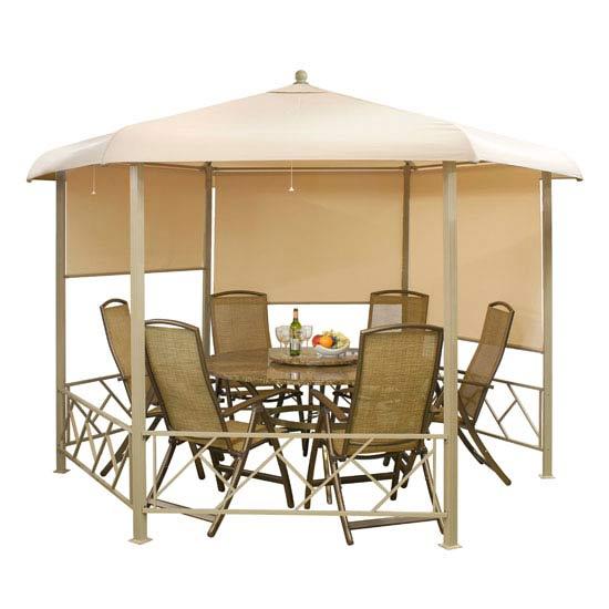 Replacement Canopy for Suntime Venetian  3.5m Cappuccino  Hexagonal Gazebo