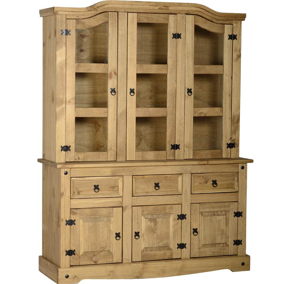 Cortez Corona  Pine 3 Door 3 Drawer Buffet Dresser