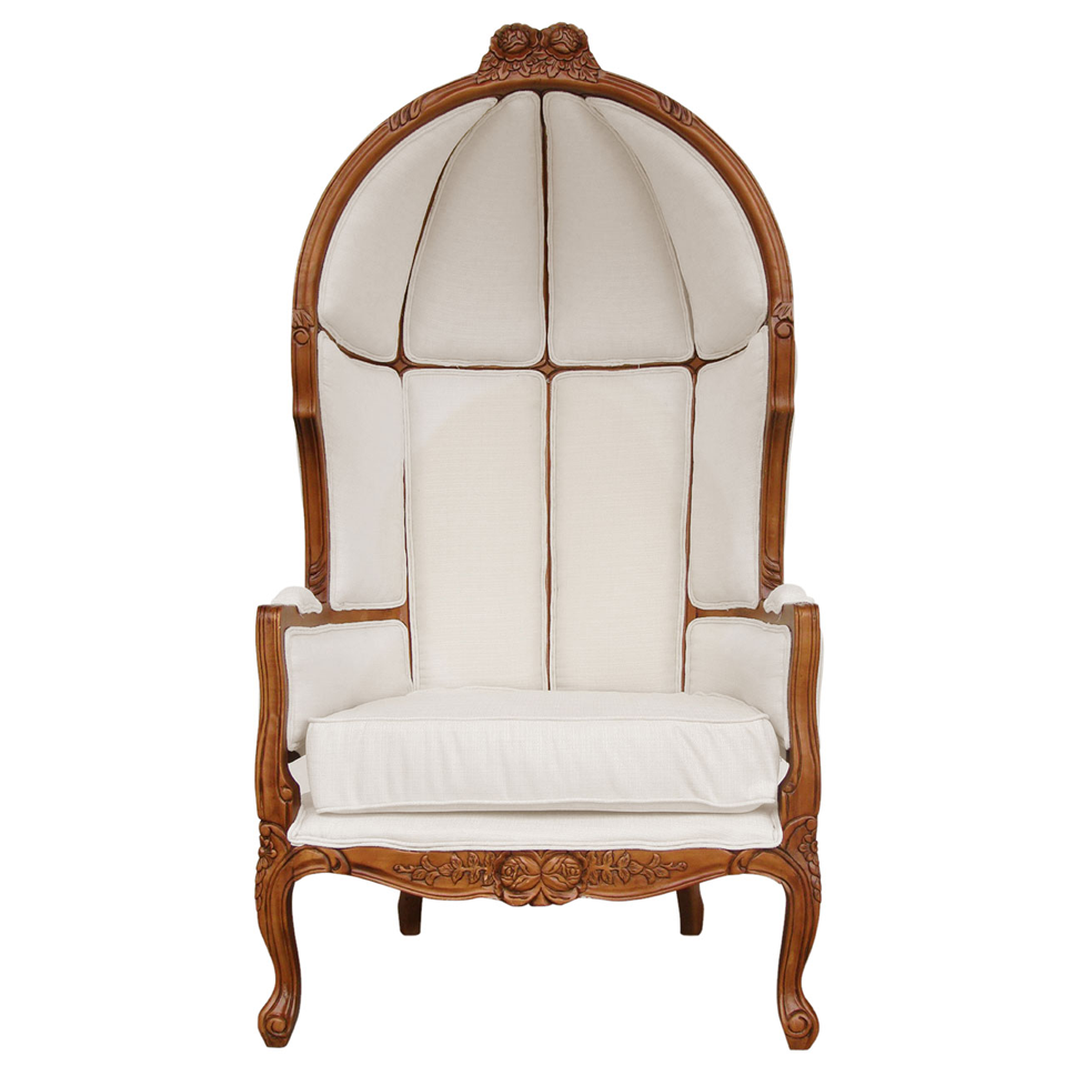 Valentina Rococo Cream Upholstered Porter's Chair