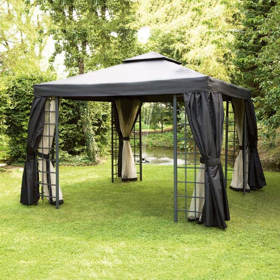 Replacement Net Curtains For Black Suntime Deluxe 3m Gazebo Gables And Gardens