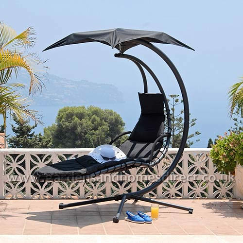 Suntime Black Helicopter Garden Swing Seat