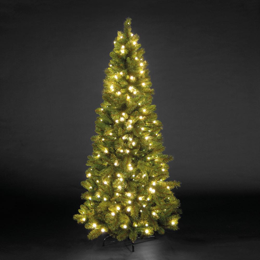 7ft/210cm Manitoba Spruce Slim Green Pre-Lit LED Christmas Tree
