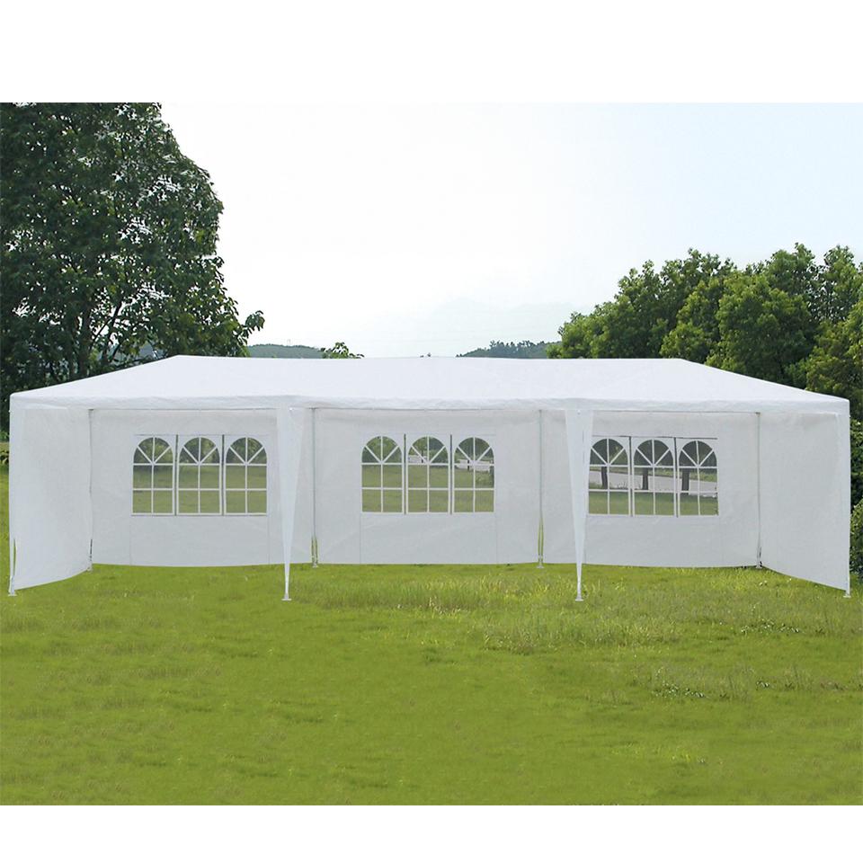 9m x 3m White 5 Panel Party Tent