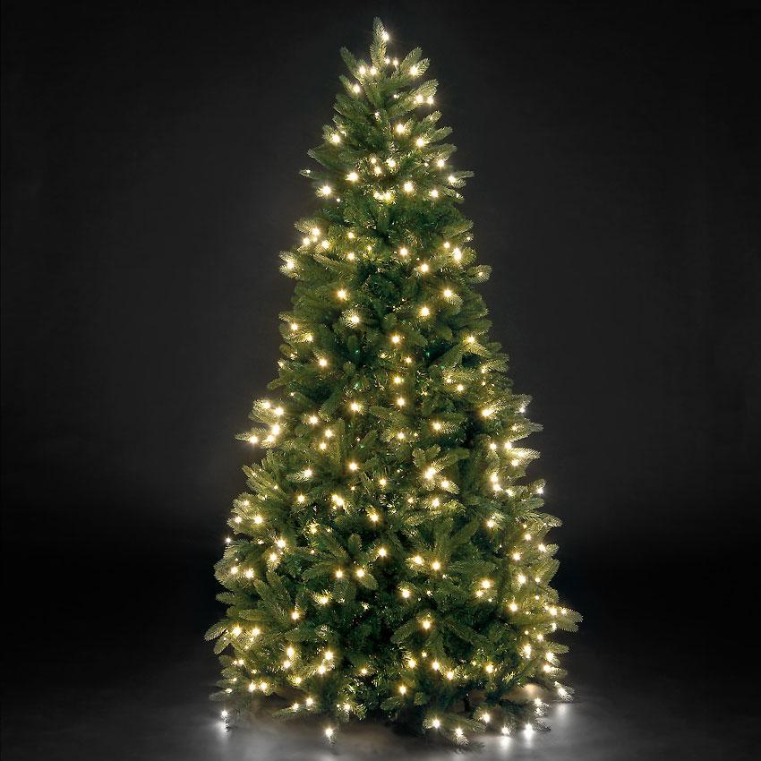 7ft/210cm Louise Fir Green Pre-Lit PE Premium LED Christmas Tree