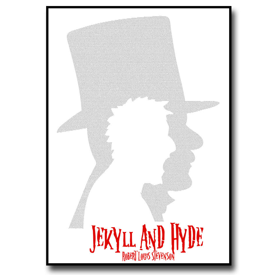 Jekyll and Hyde Text Wall Print