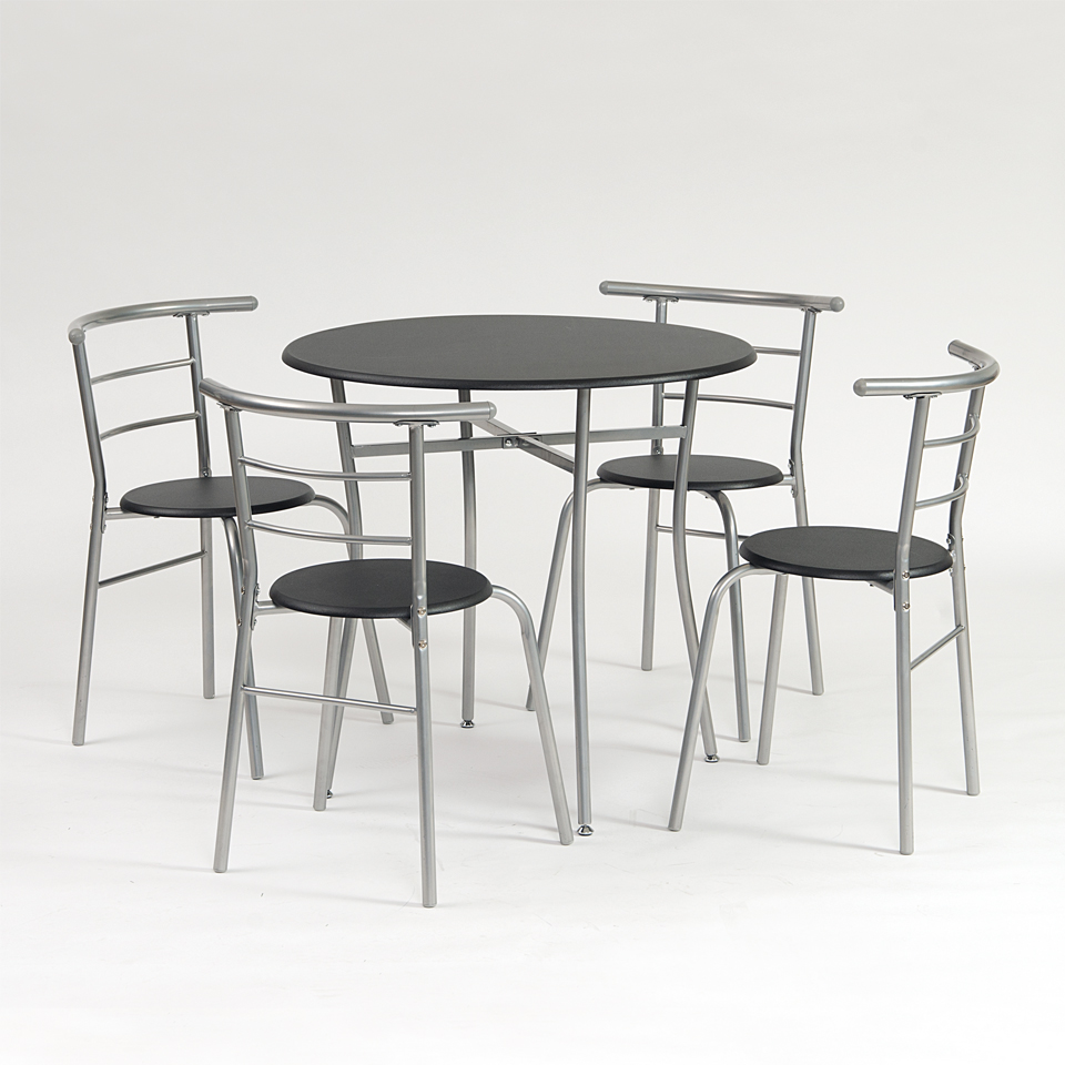 Black Kitchen Table w4 Chairs