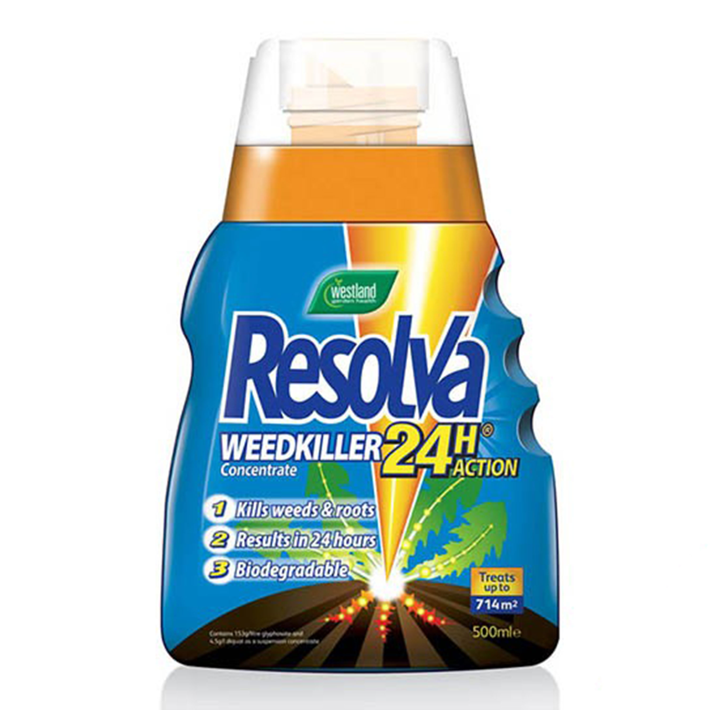 Image of Westland Resolva Weedkiller 24H Contrentrate 500ml