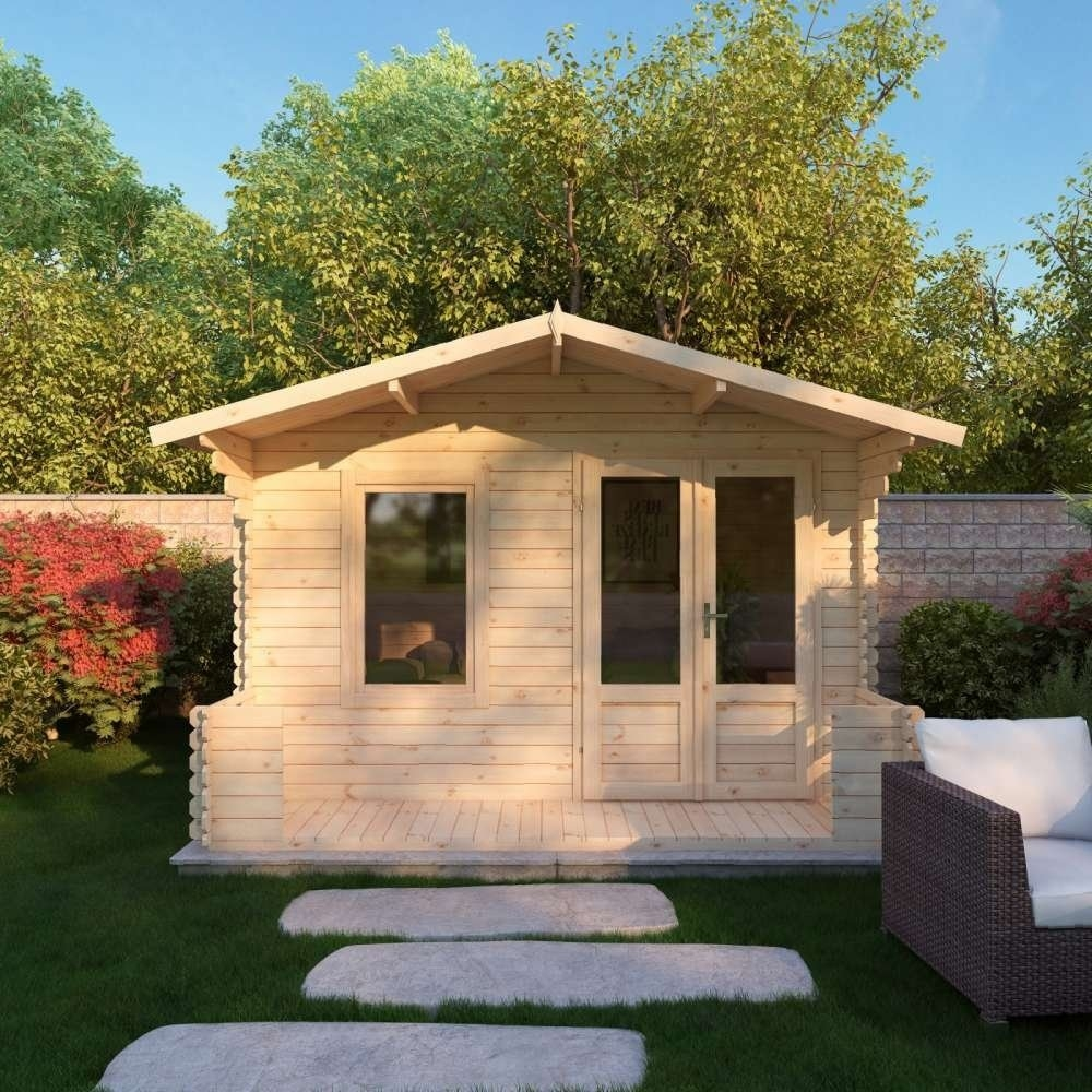 2.7m x 2.5m 19mm Log Cabin with Veranda