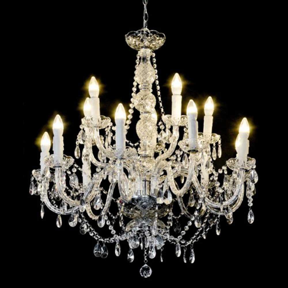 Fourteen Light Chandelier - Clear