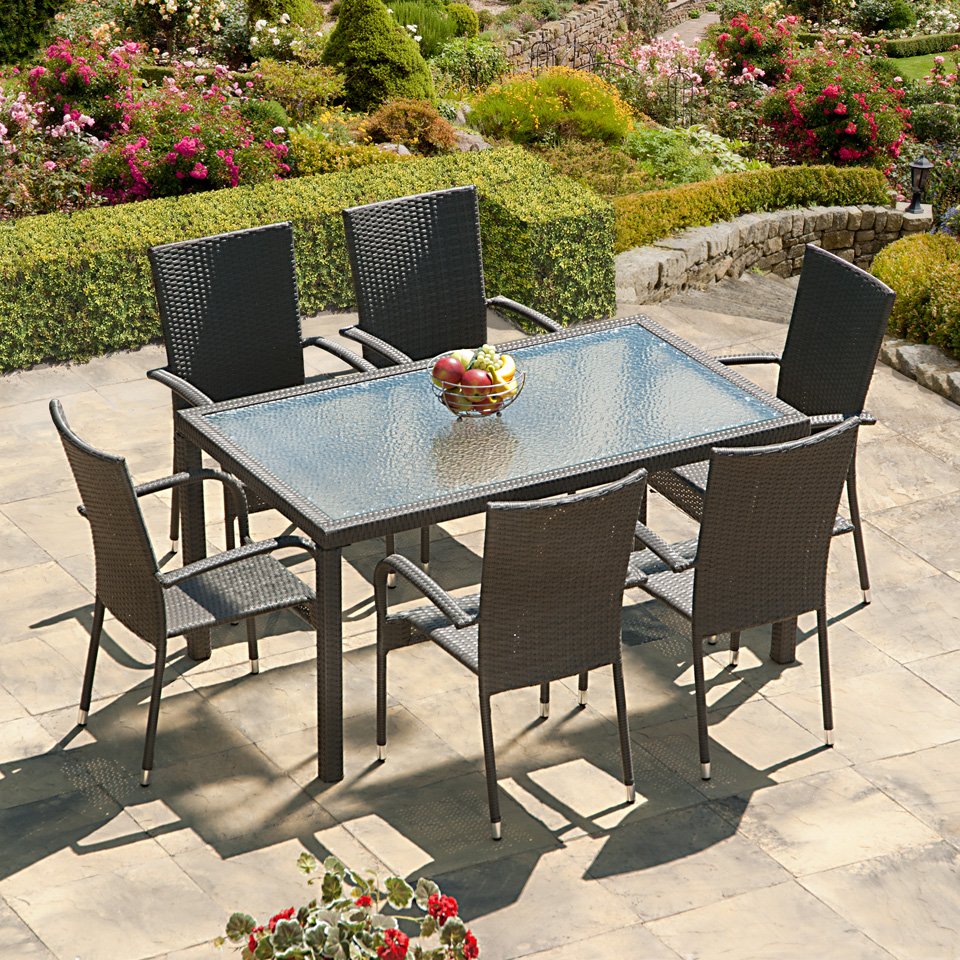 Buy cheap rattan patio set compare furniture prices for for Best patio set deals