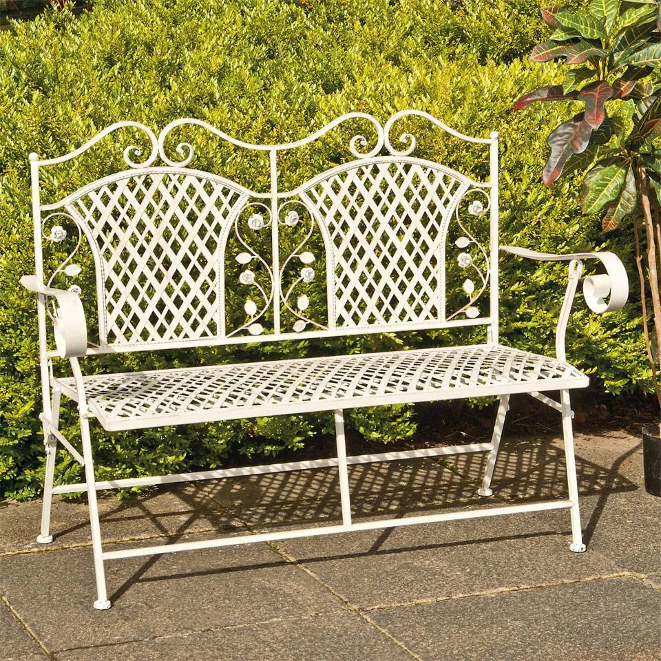 Compare Prices On These Beautiful Three Seat Metal Garden Benches For Sale