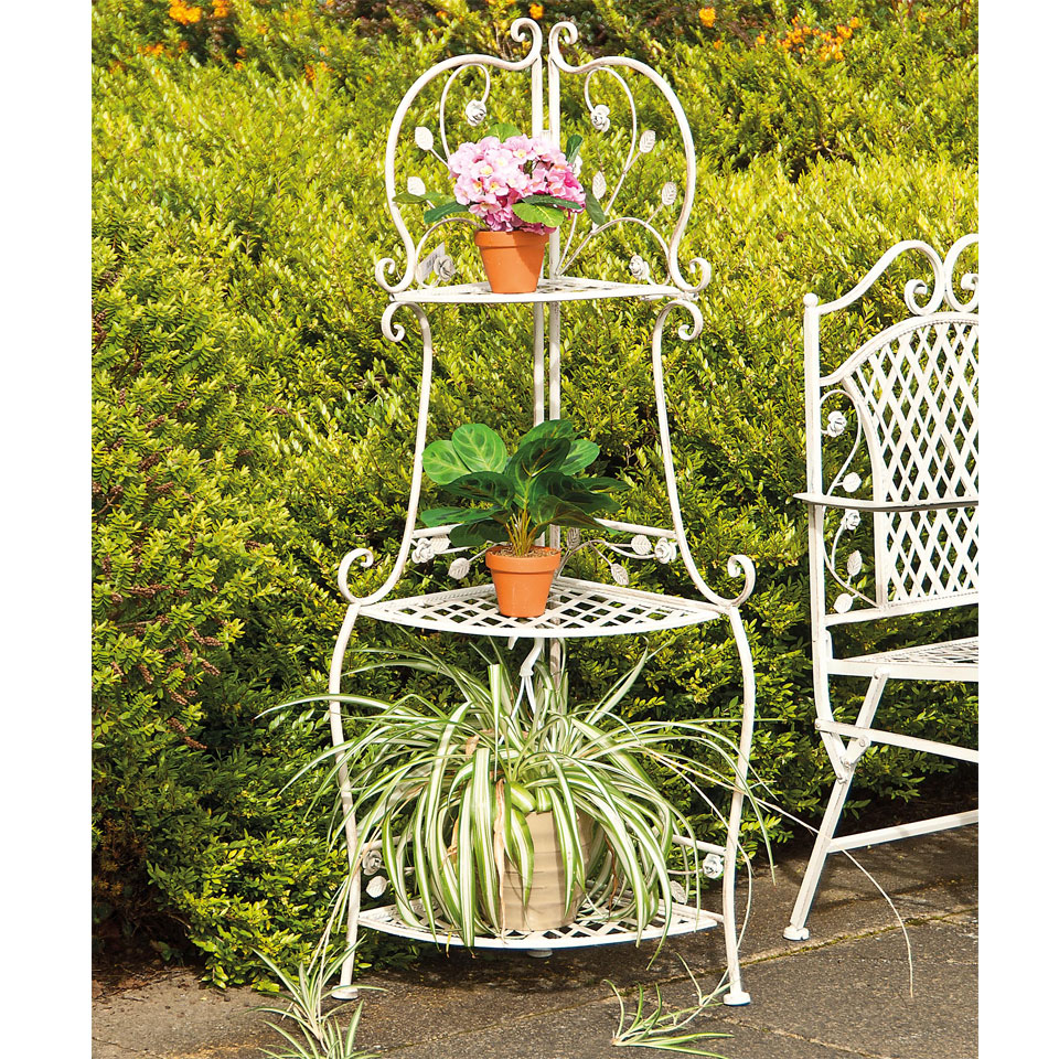 Lorraine Antique French Style 3 Tier Plant Display Stand