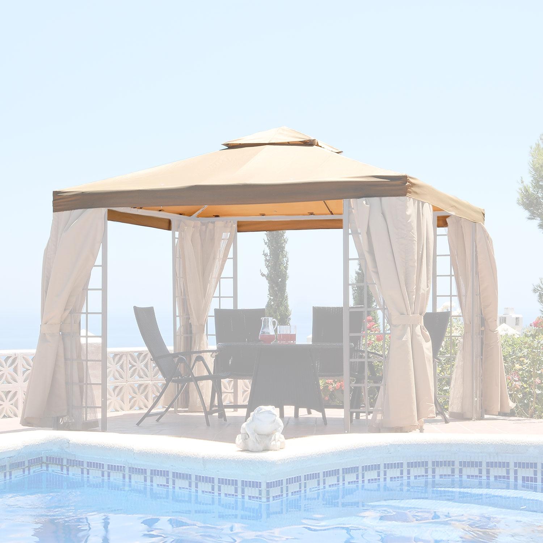 Garden Replacement Canopy for Beige Suntime Deluxe Gazebos - Pre 2007 Model