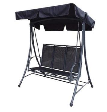 Black Canopy for Boston 3 Seat Swing