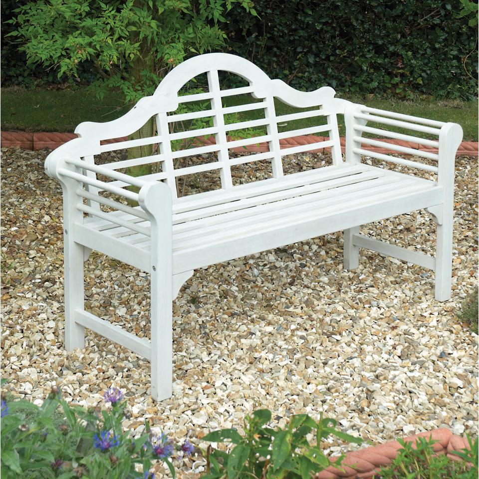 White Lutyens Bench