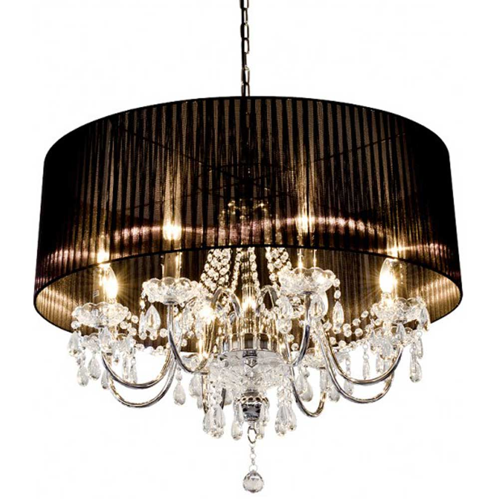 Beaumont Eight Light Chandelier (Black)