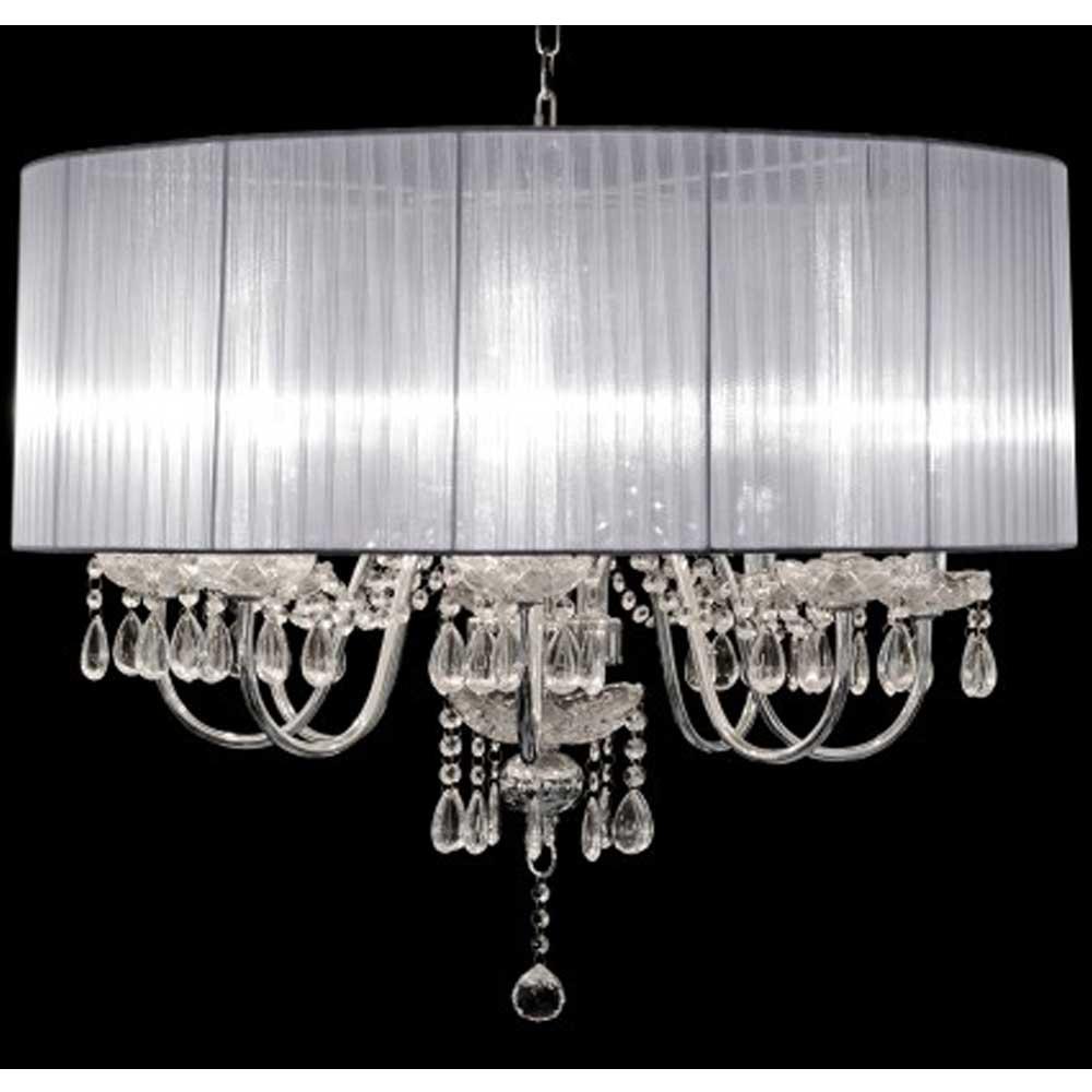 Beaumont Eight Light Chandelier (Silver)