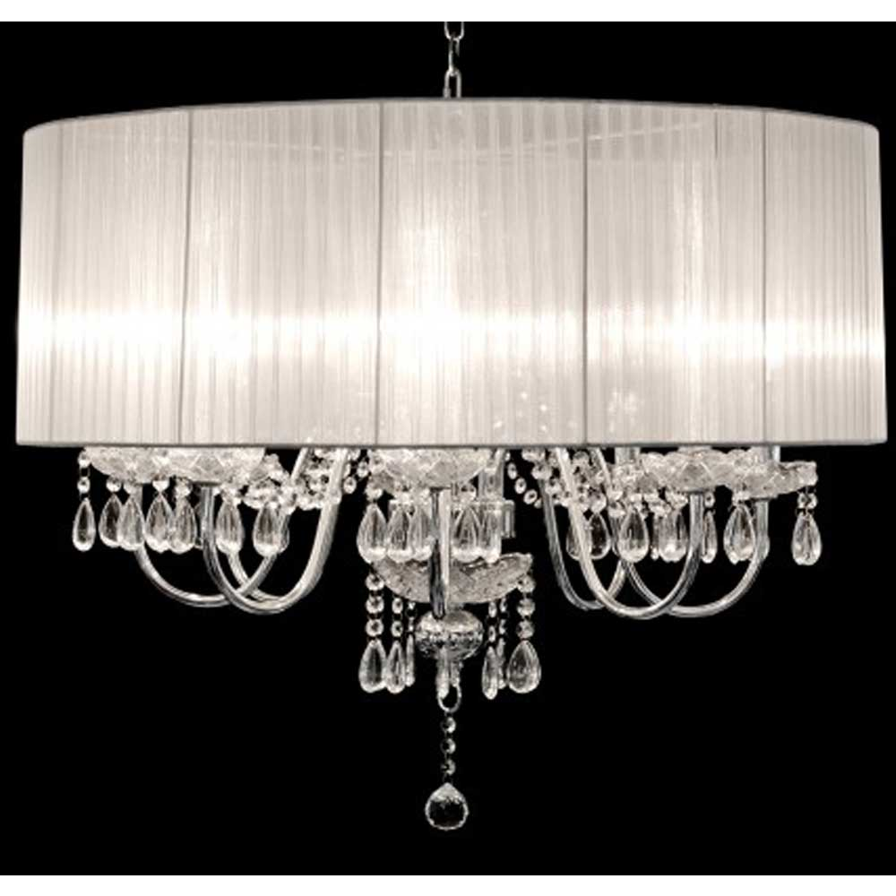 Beaumont Eight Light Chandelier (White)