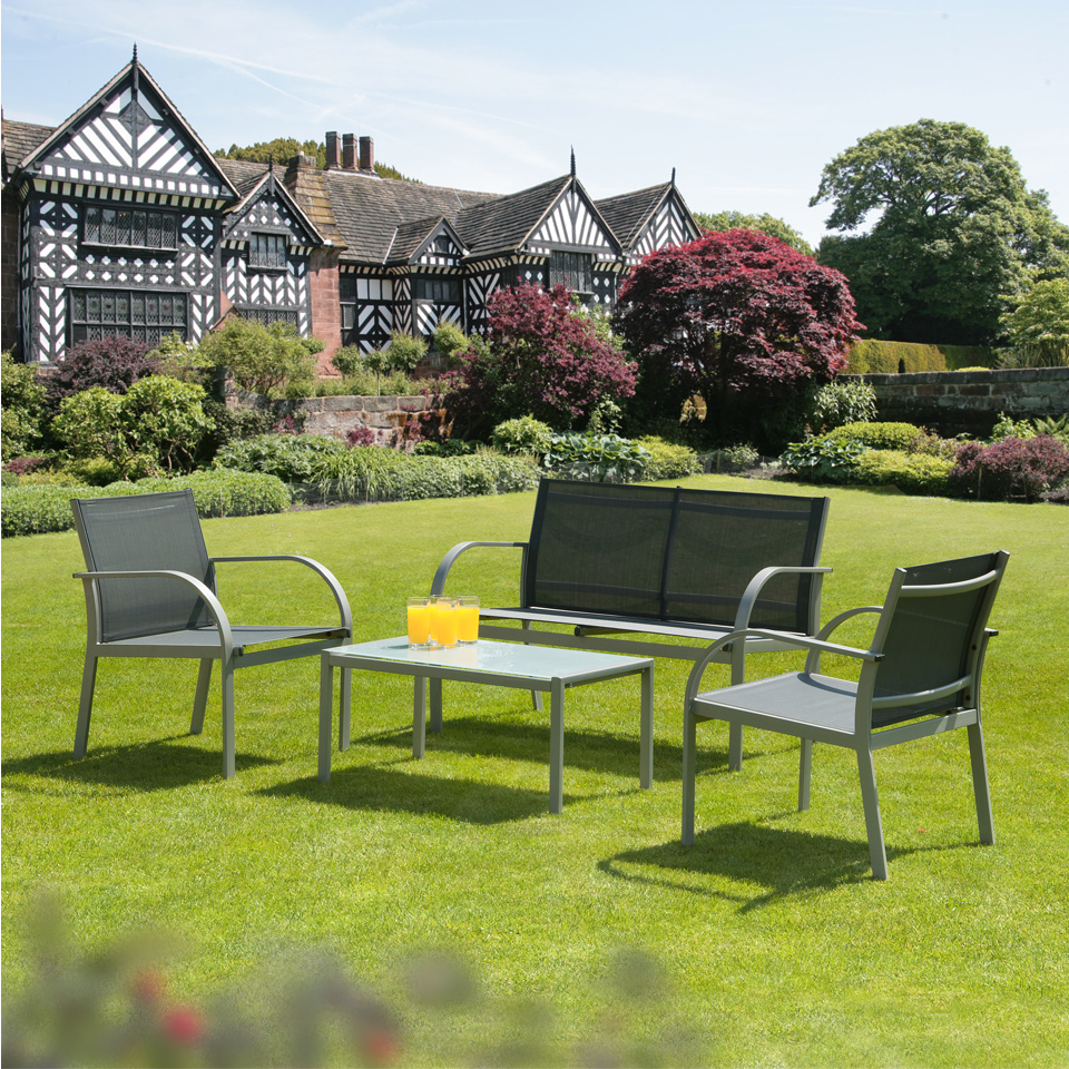 Malvern 4 Piece Garden and Conservatory Entertaining Set